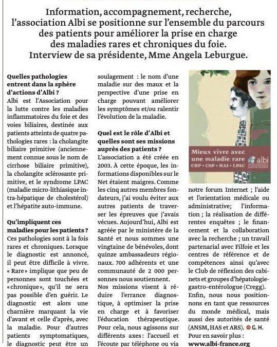 Grand Angle sur l'Hépatologie et les maladies rares du foie et des voies biliaires