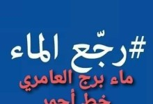 Photo of ثورة الماء  في منطقة برج العامري تليها منطقة طبربة