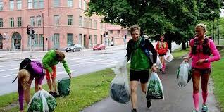 صورة السويد، رياضة الركض وجمع القمامة في ذات الوقت