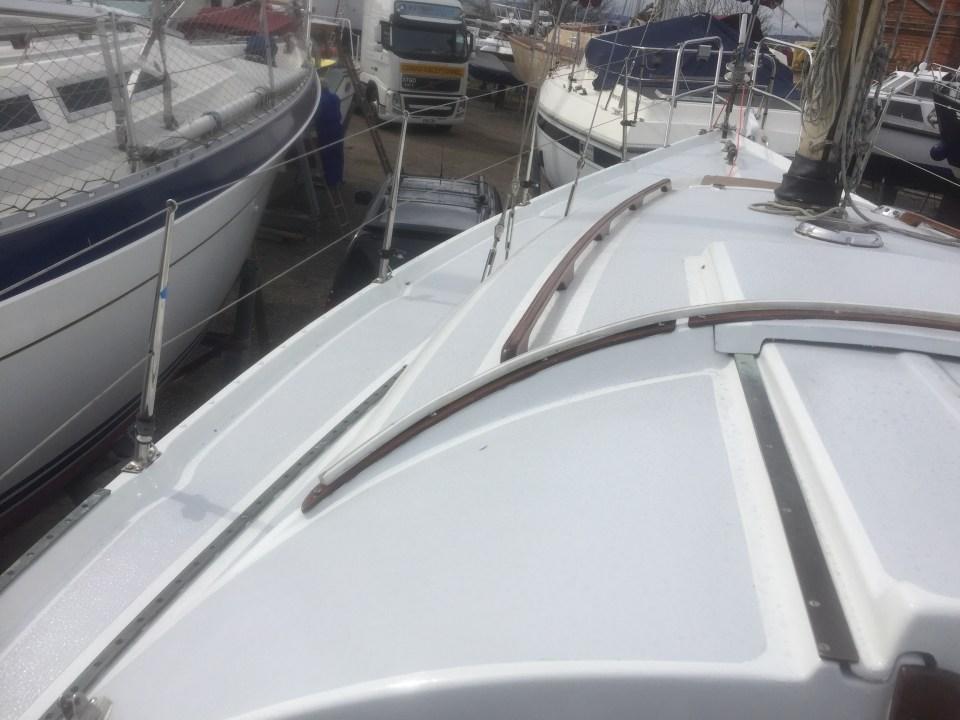 Painted deck looking forward