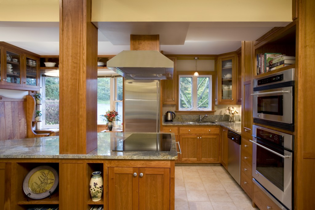 Open Galley Kitchen  Albion Cabinets  Stairs