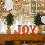 Easy Glittered Wooden Letters