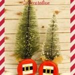 Santa's Belt Buckle Decoration