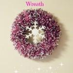 Tinsel Snowflake Wreath