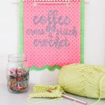 Coffee Cross Stitch and Crochet Banner