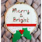 Merry and Bright Cross Stitch Hoop