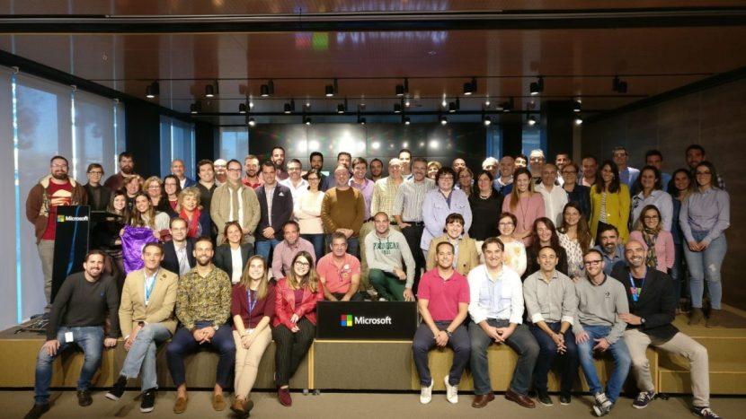 El equipo de profesores Innovadores en la sede de Microsoft España