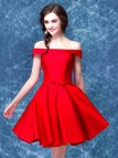 Off the Shoulder Red Homecoming Dress