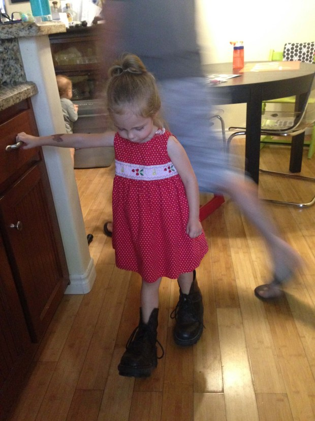 Wearing Momma's Combat Boots