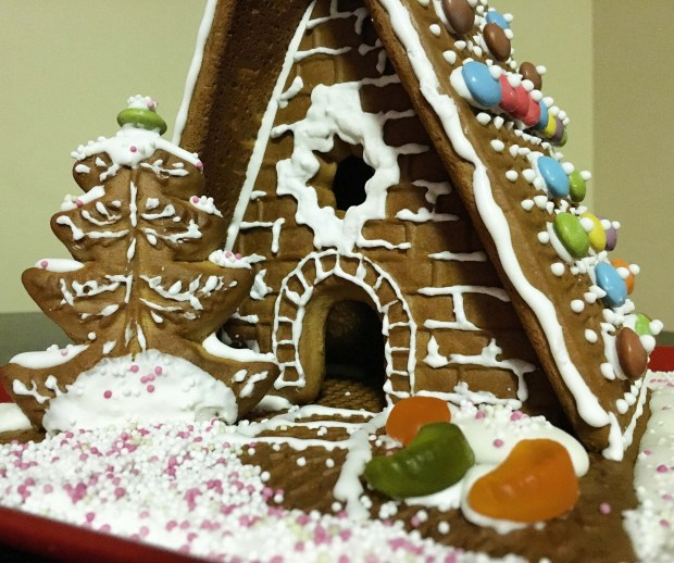 Our first gingerbread house!