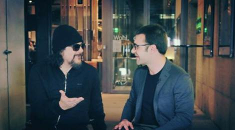 Tito Larriva telling me about his love for romantic Spaghetti Western music | Photo: From-Hero-To-Zero.com