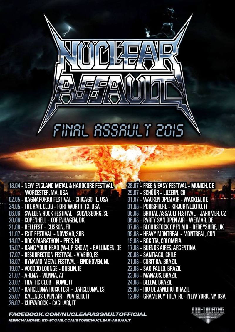 Nuclear Assault - Final Assault 2015 Tour