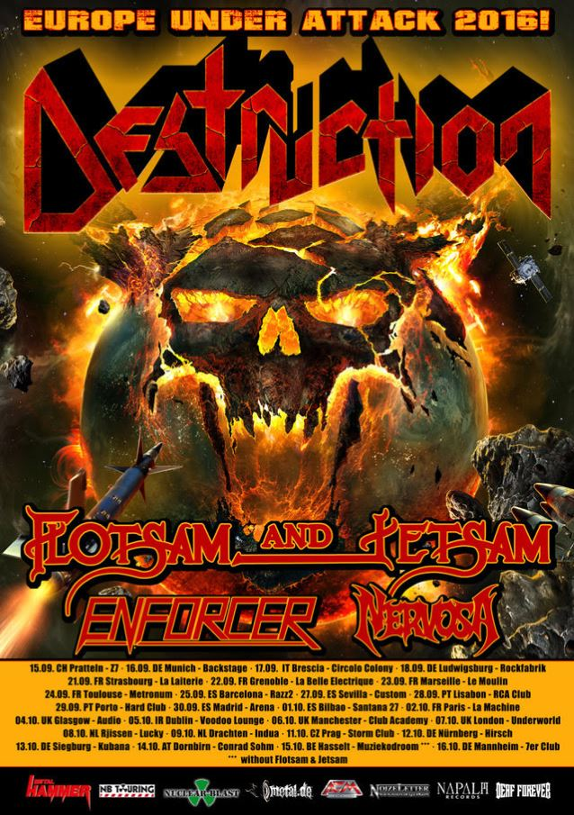Destruction Europe Under Attack 2016 tour