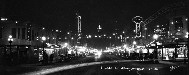 Phot of Central Ave in Albuquerque c1934