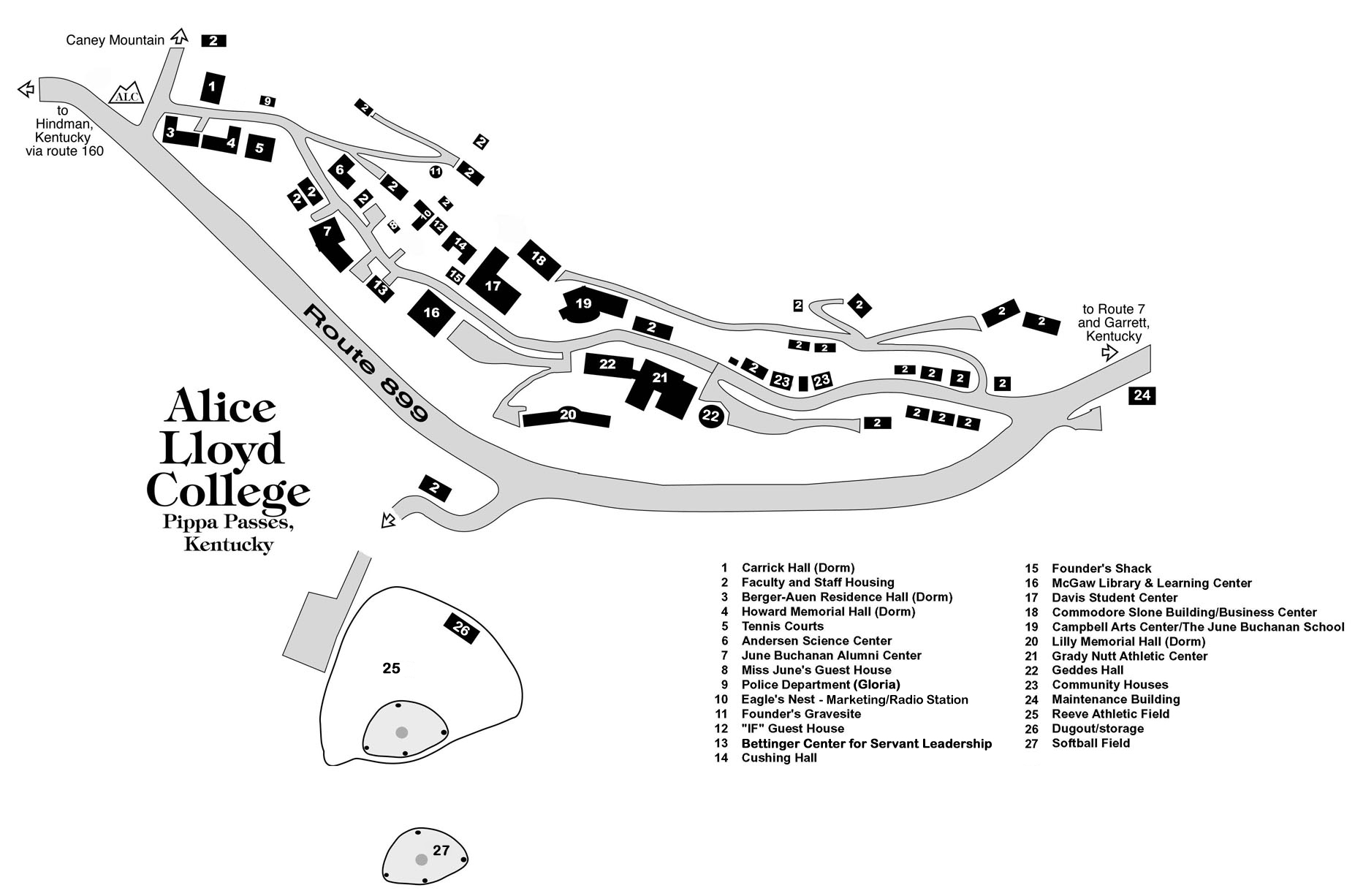 hight resolution of campus map