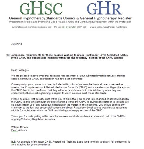 letter GHSC