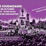Cartel Pleno Ciudadano Somos Alcalá