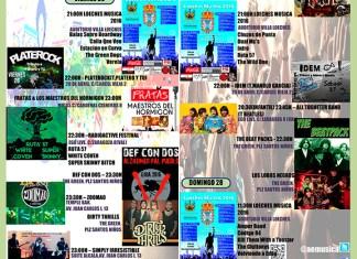 Agenda Musical Fin de Semana del 26 al 28 de Febrero