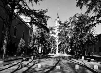 La Plaza de las Bernardas en blanco y negro