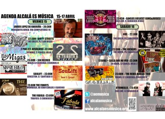 Agenda Musical Fin de Semana del 15 al 17 de Abril en Alcalá