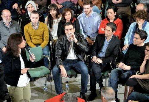 Viernes 26 de febrero . El líder del PSOE, Pedro Sánchez, visitó Alcalá para pedir el sí a la militancia al acuerdo con Ciudadanos . Foto de Ricardo Espinosa Ibeas