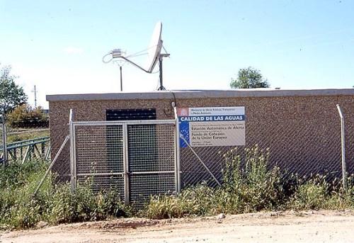Estación SAICA en el río Henares a la altura del puente de la carretera M-116 a Los Santos de la Humosa