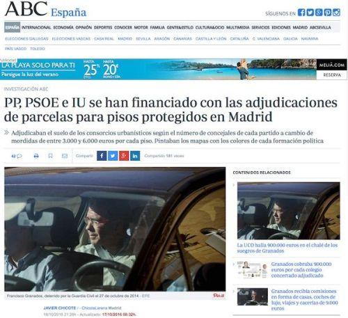 La noticia en el Diario ABC del 16 de octubre
