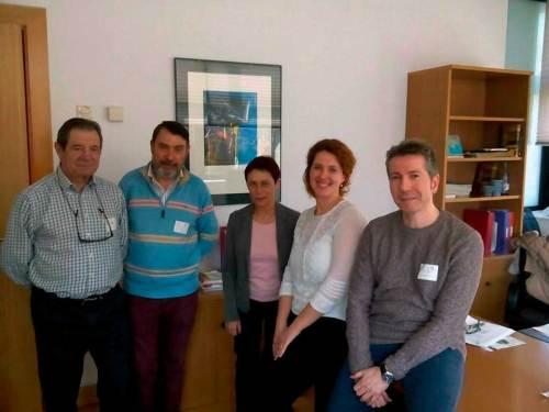 Con el grupo parlamentario de Podemos
