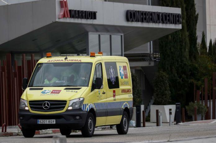 La Comunidad de Madrid repliega la atención a pacientes COVID-19 de Alcalá de Henares con evolución favorable en el hotel Marriot Auditorium.