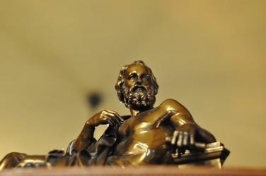 Platón en bronce. Imagen cedida por cortesía de Pixabay