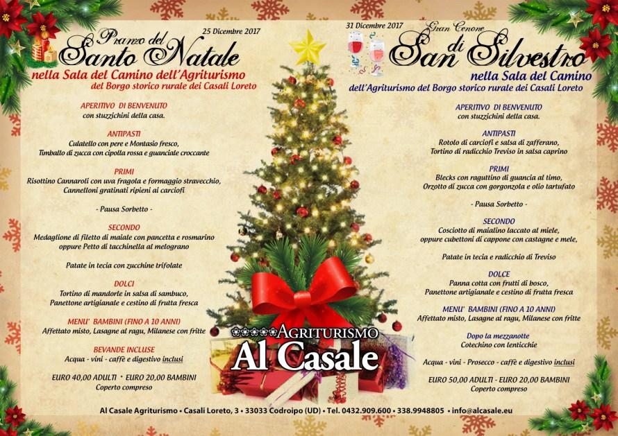 Menu natale Capodanno Casale 2017 890x629 Pranzo di Natale 2017 e Cenone di San Silvestro (Capodanno) in agriturismo a Codroipo