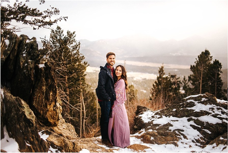 rocky mountain nation park engagement session
