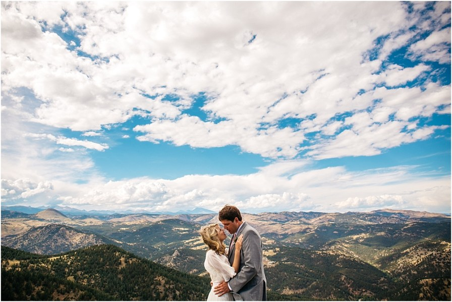 boulder wedding photographer sunrise amphitheater wedding
