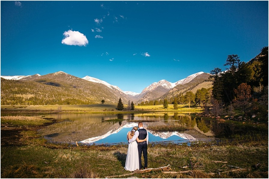 Rocky Mountain National Park Elopement Photographer | Sprague Lake Elopement