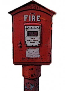 Push in Case of Fire