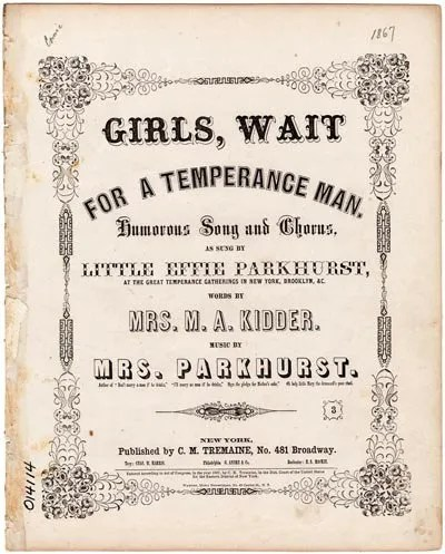 Temperance Songs Promoted Temperance Through Music