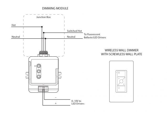 Alcon Lighting WDP 2100 0-10V Wireless 5 Wire to 3 Wire