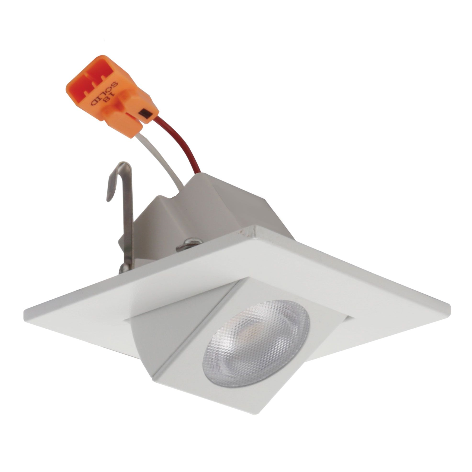 alcon lighting 14035 architectural high performance low profile 2 inch square adjustable led recessed light trim and housing 2700k warm white light