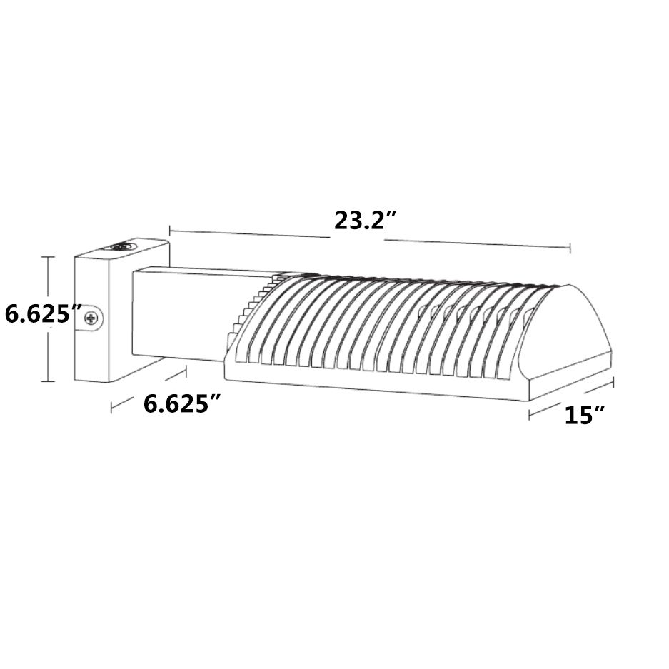RAB WPLED3T125 125 Watt LED Outdoor Wall Pack Fixture Type