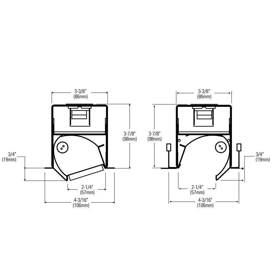 Lightolier H-Profile Recessed Asymmetric Optic T5