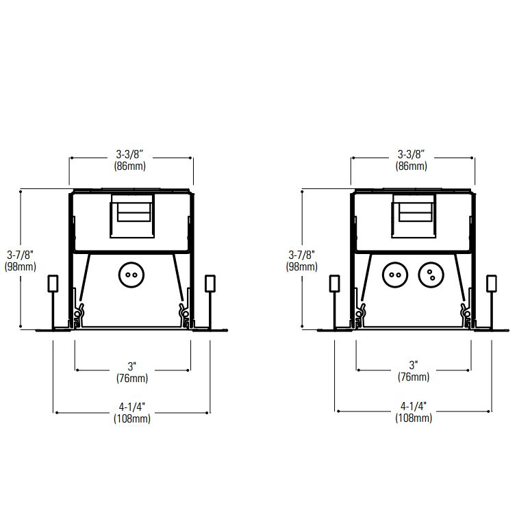 Lightolier H-Profile Recessed Lensed T5 Fluorescent