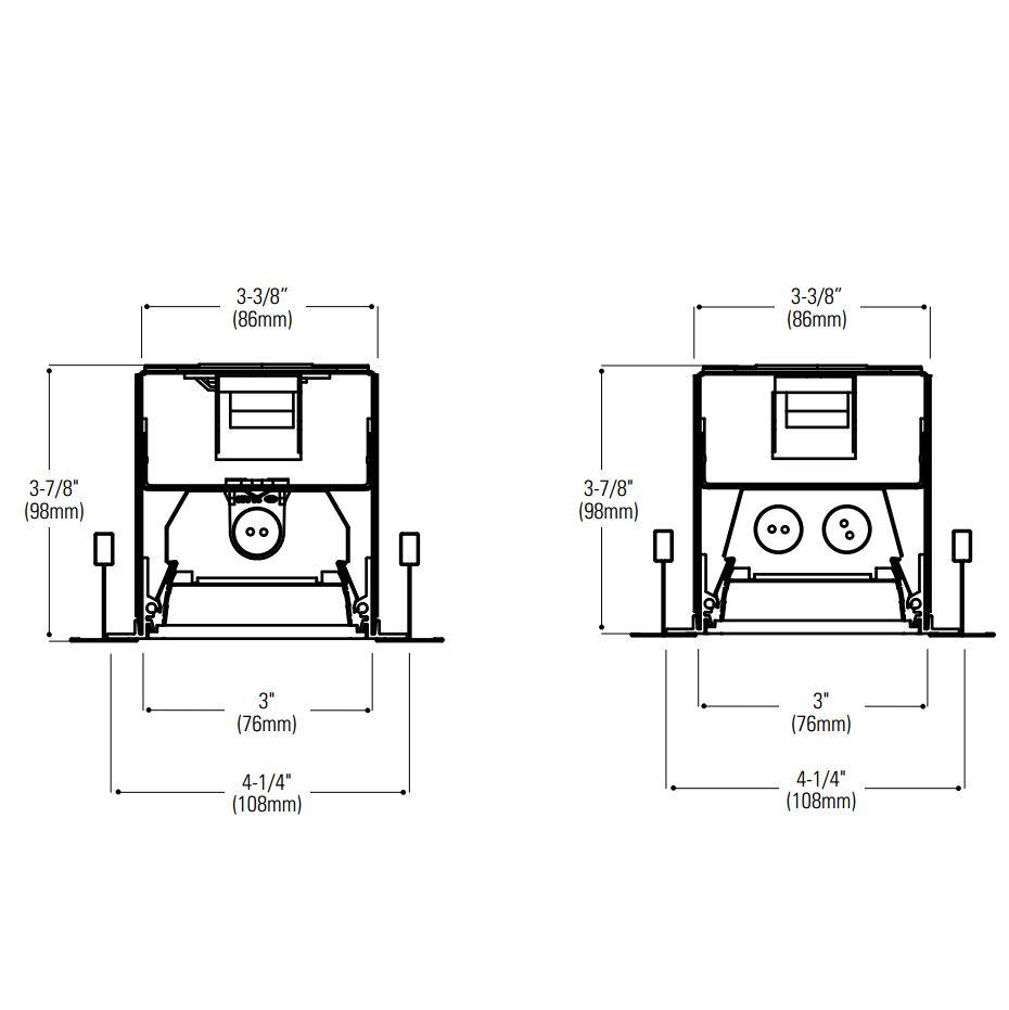 Lightolier H-Profile Recessed Louver T5 Fluorescent