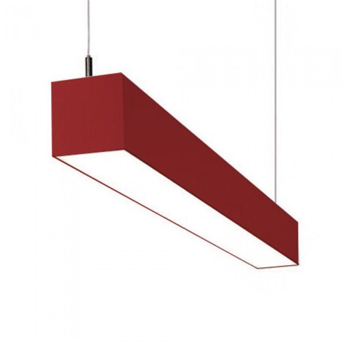 alcon lighting il modo 12110 series led suspended linear pendant led architectural light fixture red