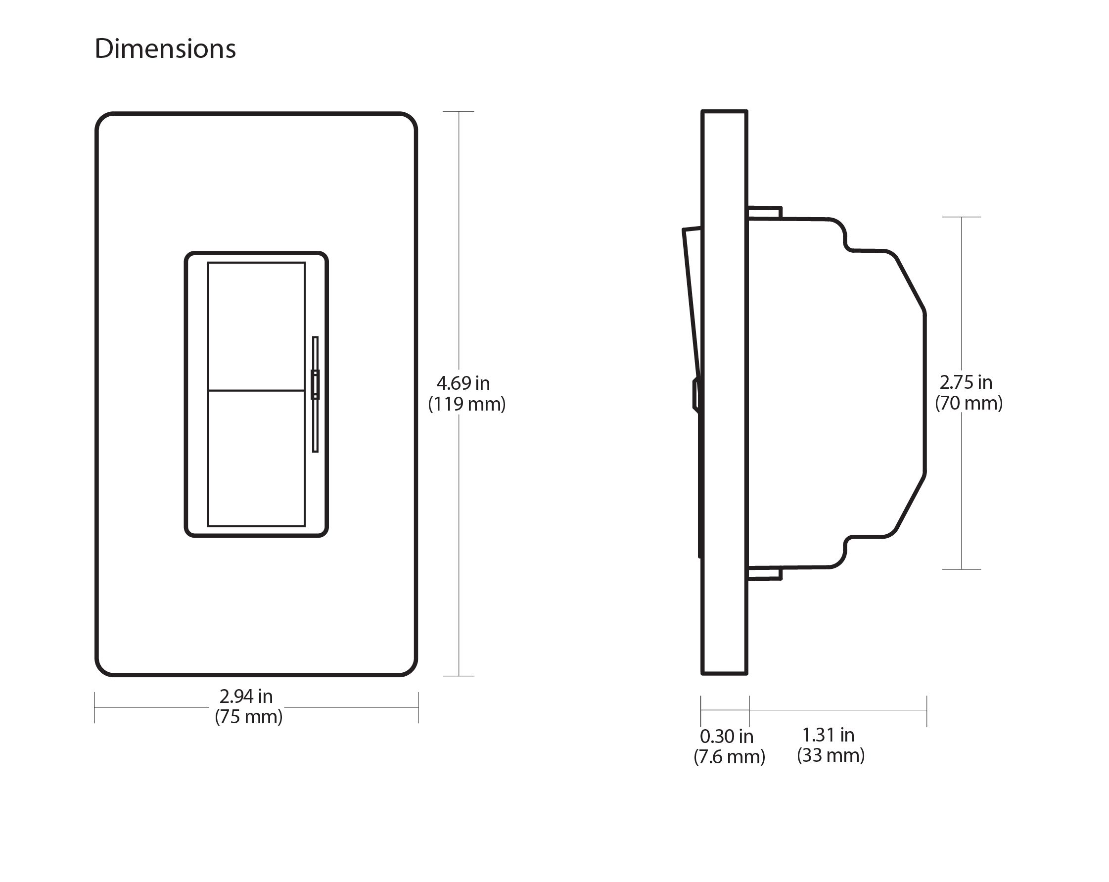 Lutron Diva DVSTV-WH 0-10V Dimmer Switch Single-Pole/ 3