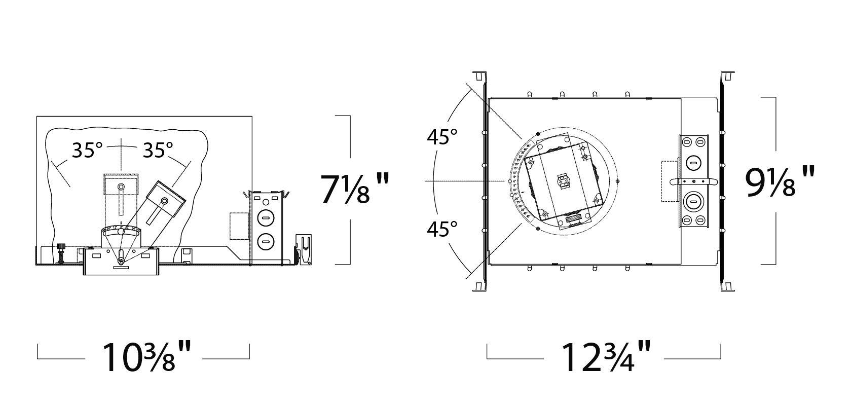 Alcon Lighting 2 Illusione 3 Inch Architectural Led