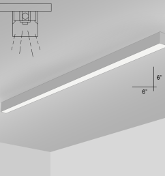 alcon lighting 12200 6 s 8 rft series architectural led 8 foot linear [ 900 x 900 Pixel ]