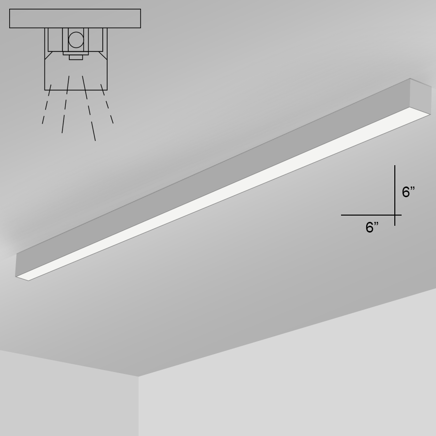 hight resolution of alcon lighting 12200 6 s 8 rft series architectural led 8 foot linear