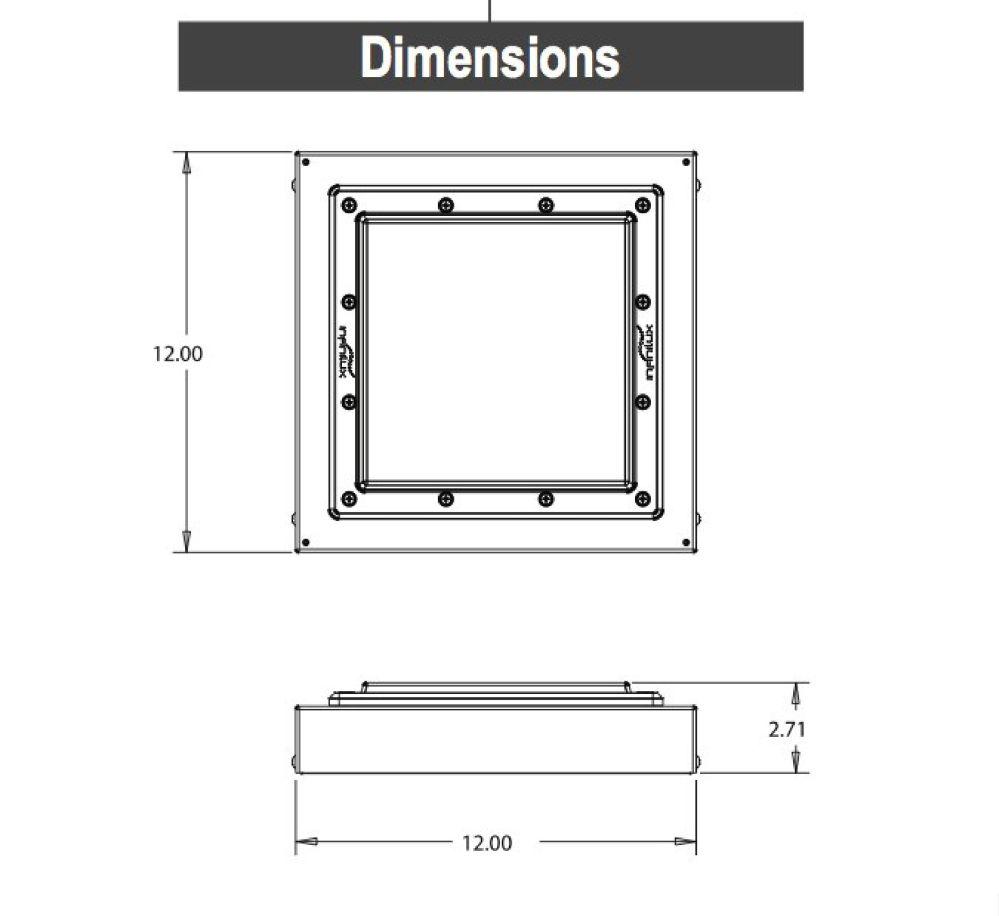 medium resolution of alcon lighting 16000 low profile led canopy garage light dlc listed