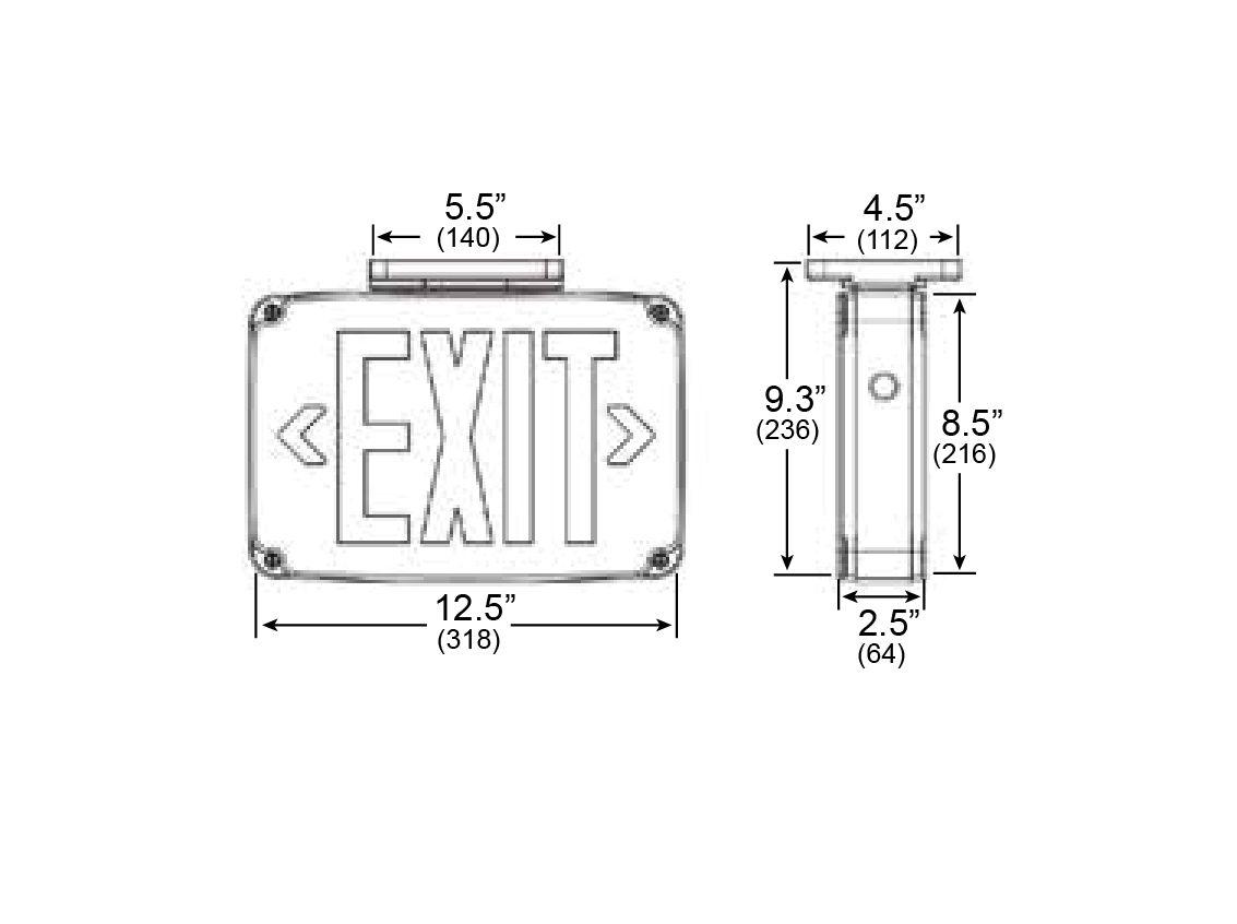 Exit Sign Wiring Diagram 120v 277v