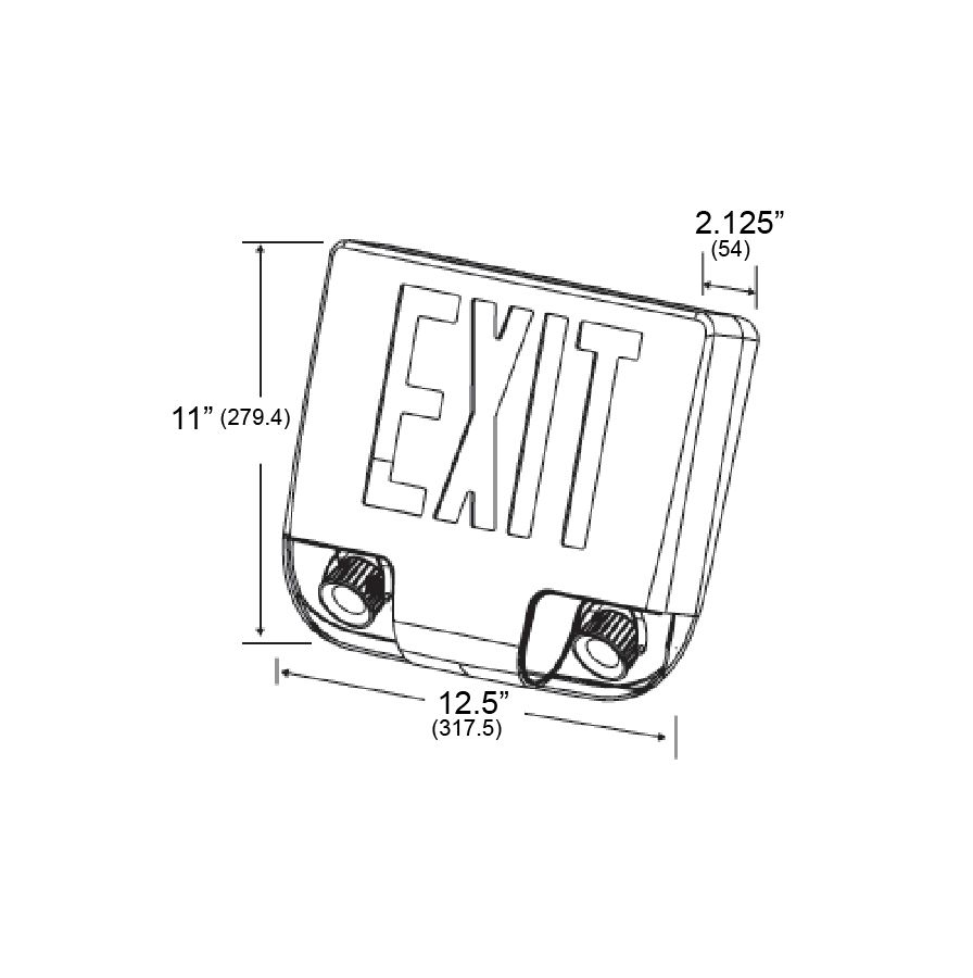 Alcon Lighting 16114 Combination LED Exit and Emergency